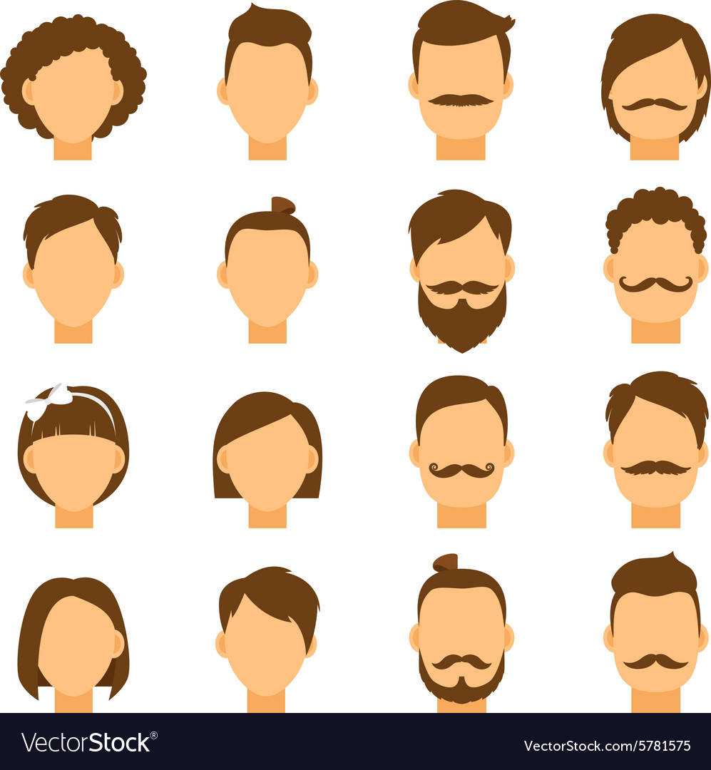 Women hairstyle and men hair style hipster.