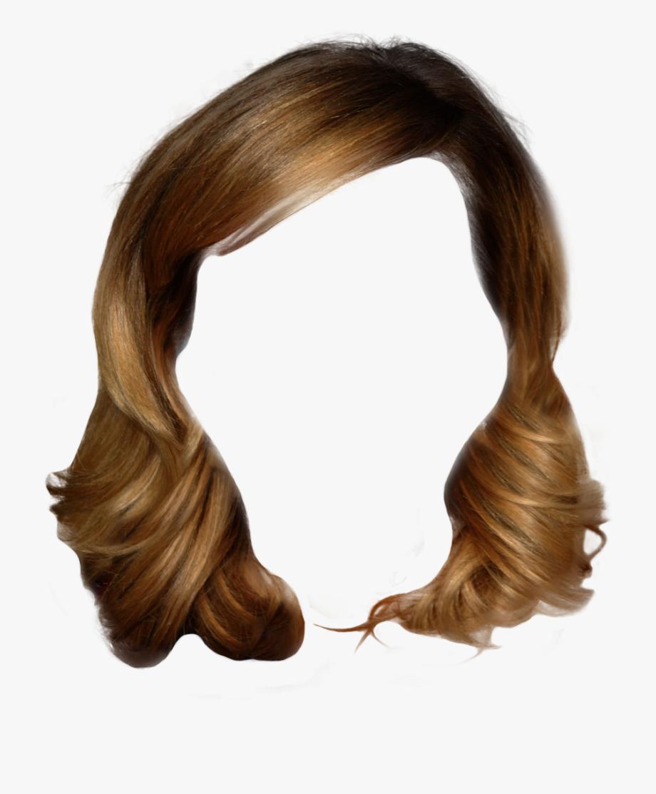 Brown Wig Png.