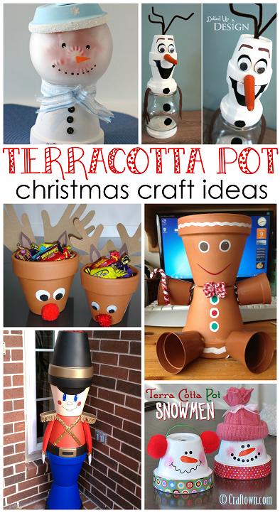 Creative Terra Cotta Pot Christmas Crafts.