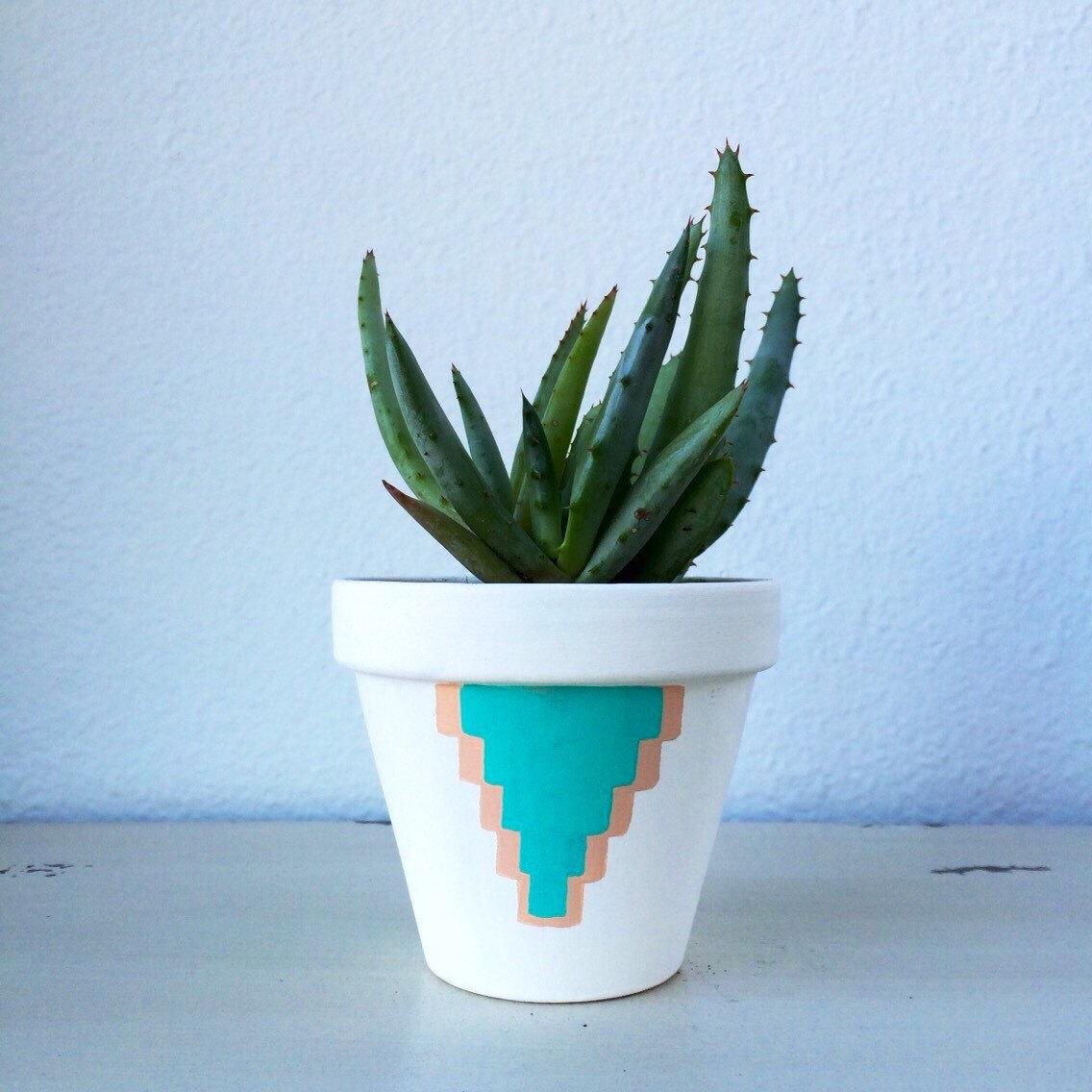 Small flower pot.