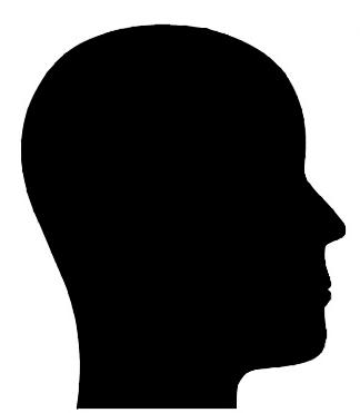 Silhouette Man Head.