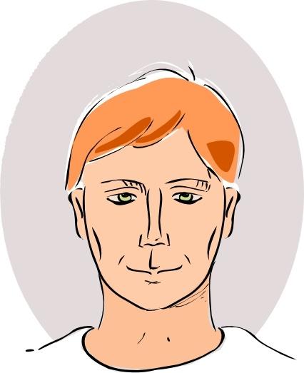Man Head clip art Free vector in Open office drawing svg ( .svg.