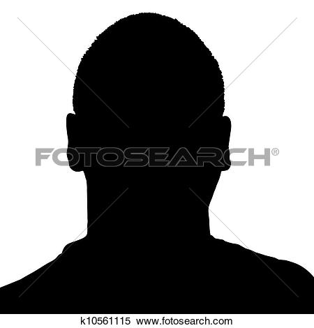 Clipart of Man's Head Silhouette k10561115.