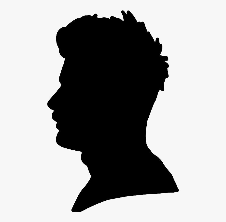 Young Man's Face Silhouette.