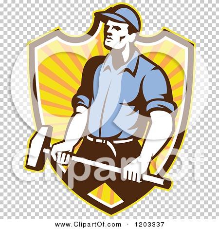 man holding a sledgehammer clipart #5