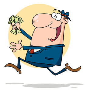 Man Holding Money Clipart.