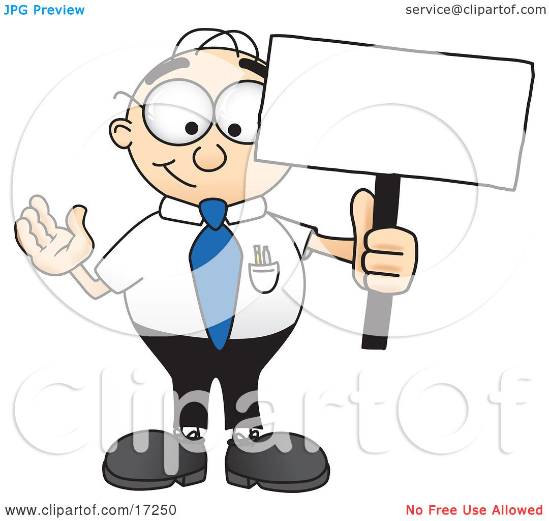 Showing post & media for Business sign clip art cartoon.