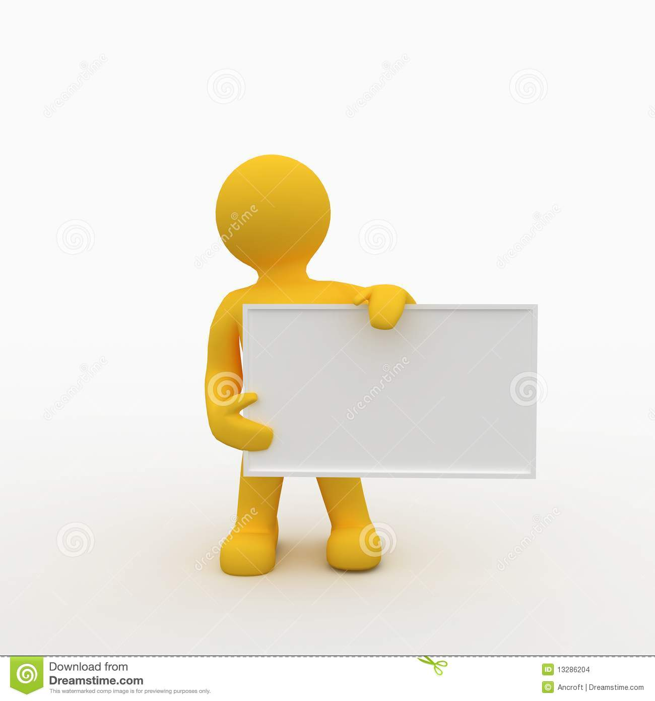 Clipart Man Holding Sign.