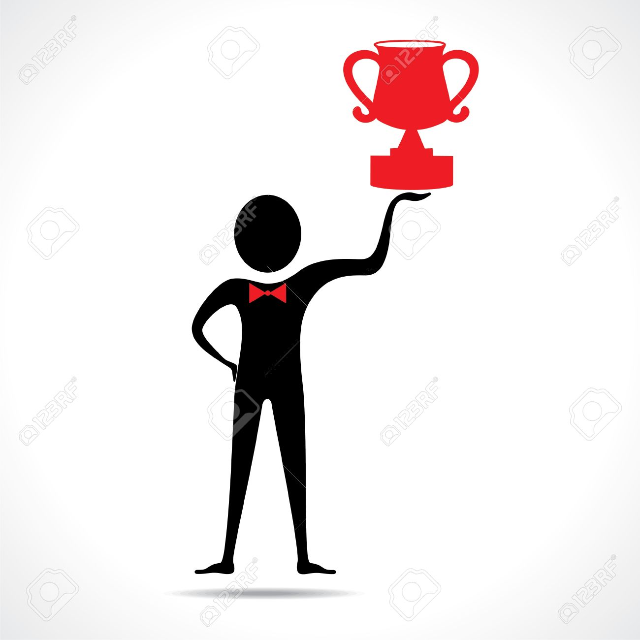 Man Holding A Trophy Vector Royalty Free Cliparts, Vectors, And.
