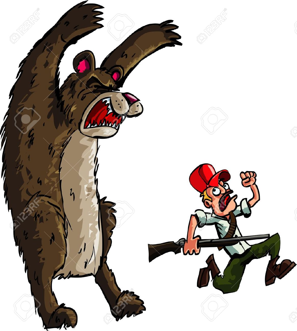 Showing post & media for Cartoon bear with person.