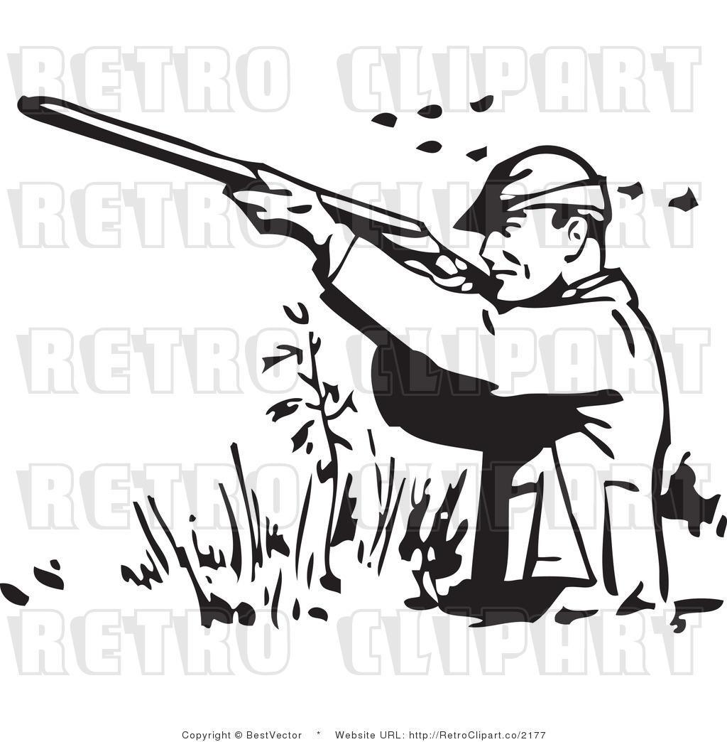 Man Hunt Clipart.