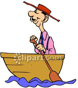 Showing post & media for Man rowing boat cartoon.
