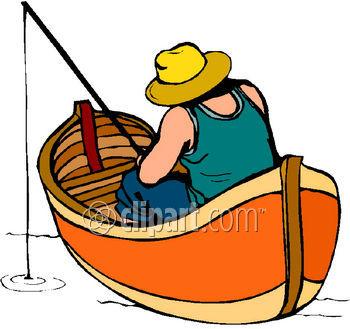 Man In Boat Clipart.