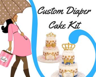 2 tier diaper cake.