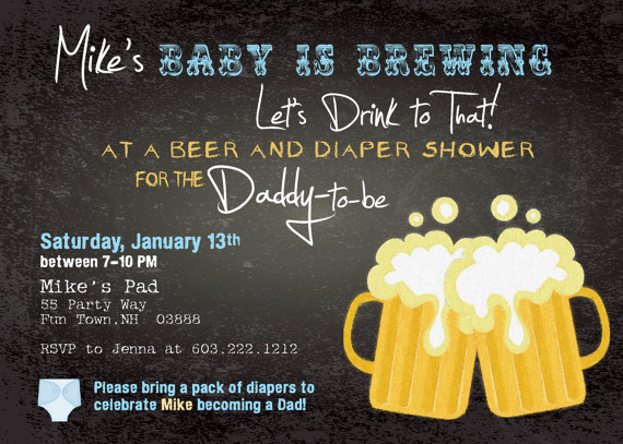 BYOD Baby Shower / Beer and Diaper Baby Shower / Man's Baby Shower.
