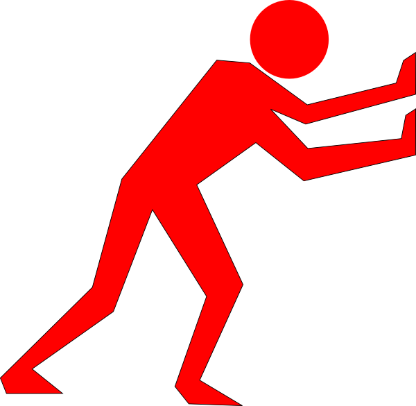 Clipart man motion.