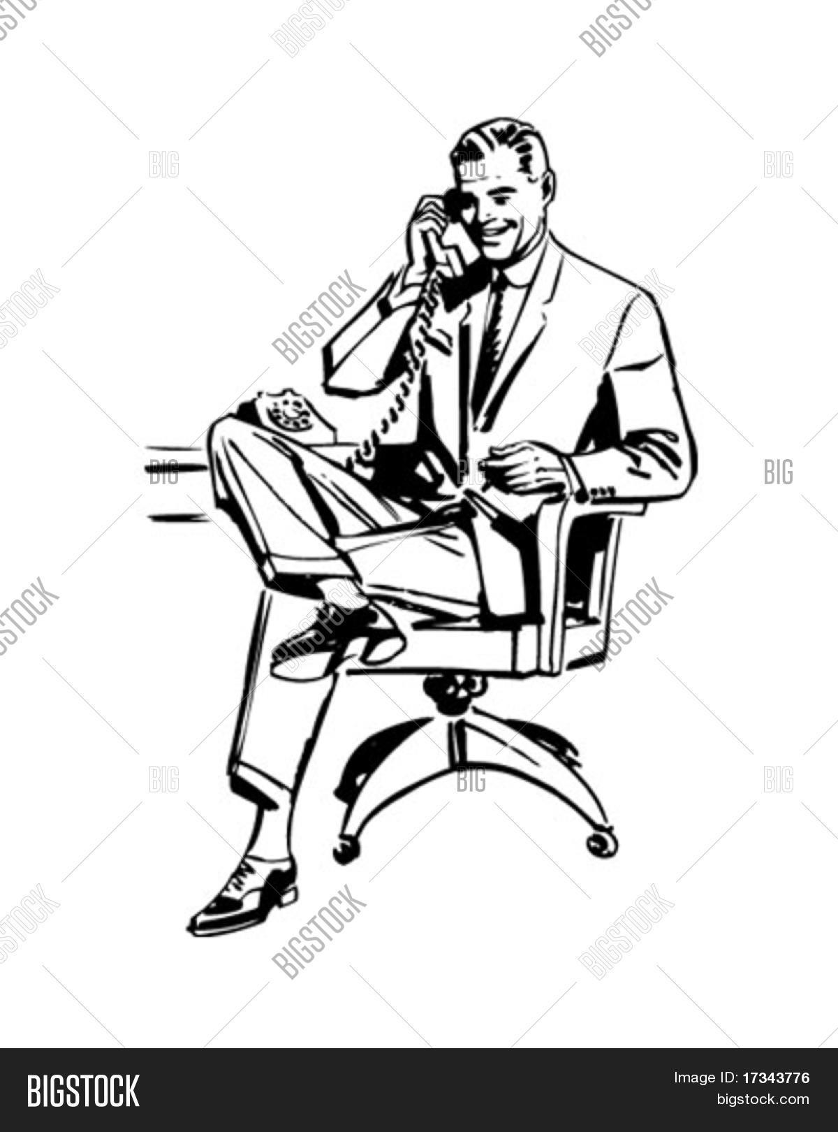 Man In Office Chair.