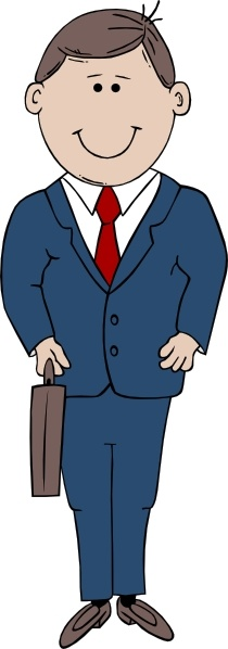 Man In Suit clip art Free vector in Open office drawing svg ( .svg.