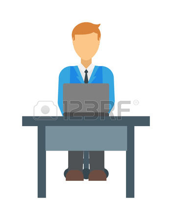 16,908 Sitting Office Stock Vector Illustration And Royalty Free.