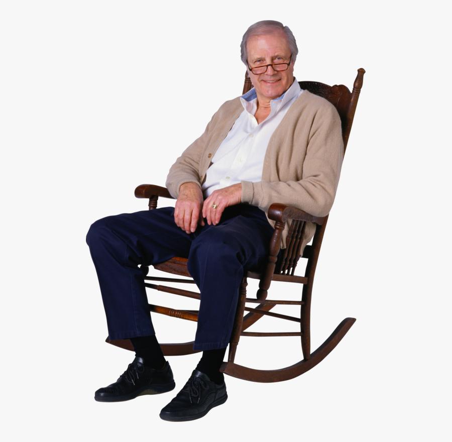 Transparent Old Man Sitting Png.