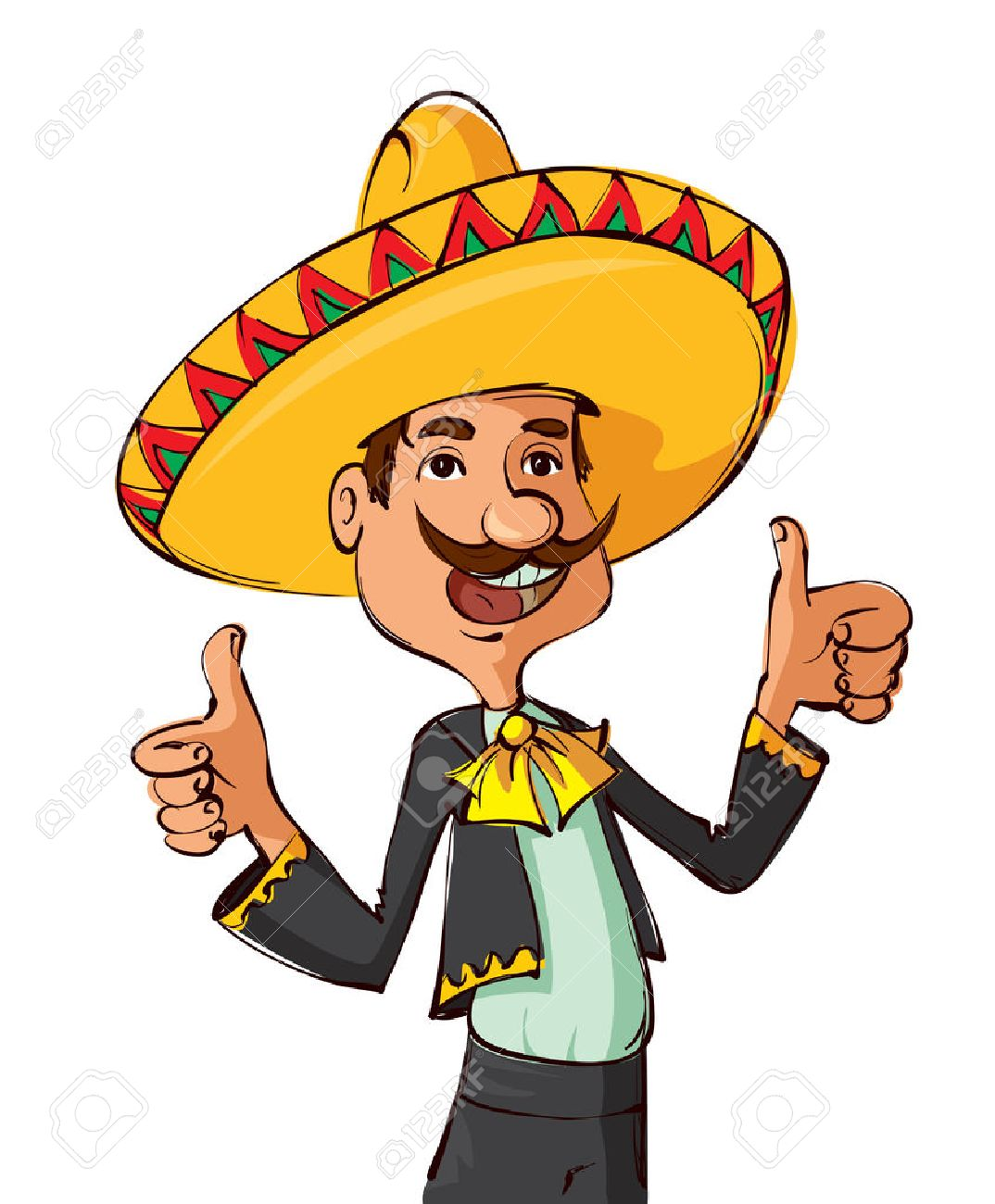 Man in sombrero clipart 3 » Clipart Station.