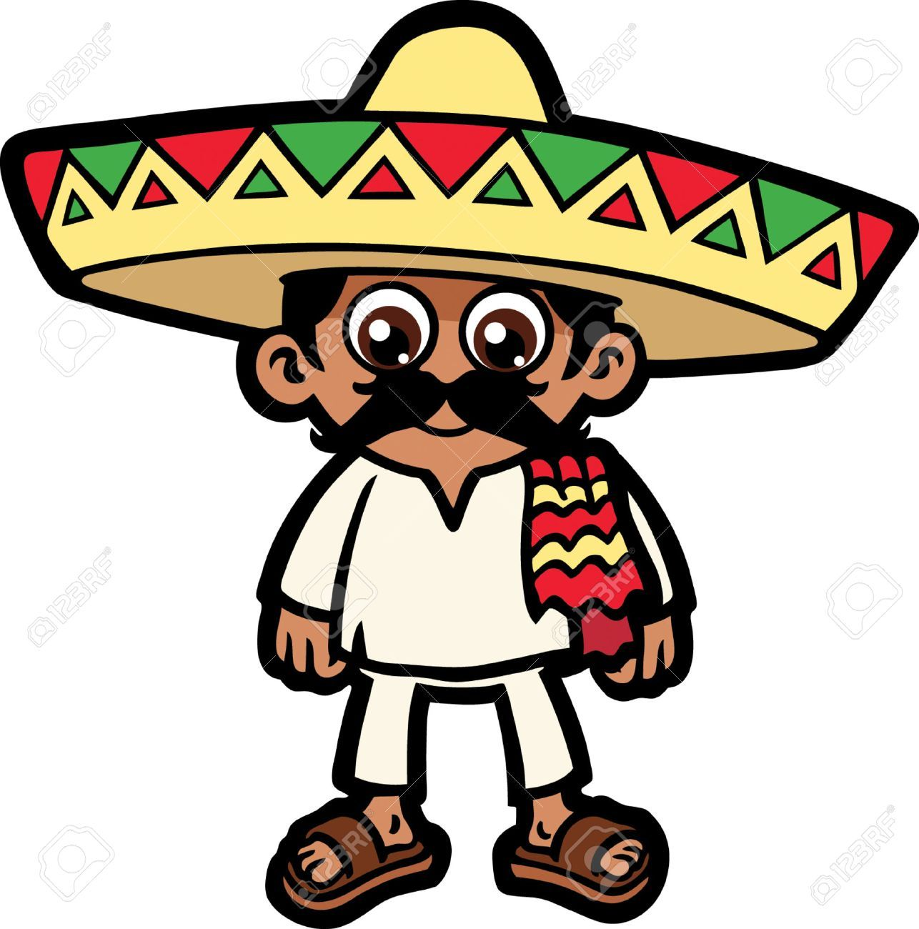 Mexican man with sombrero clipart 8 » Clipart Portal.