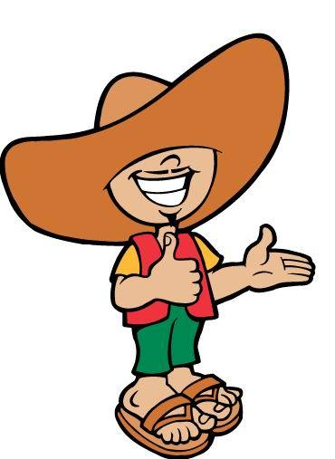 Mexican man with sombrero clipart.