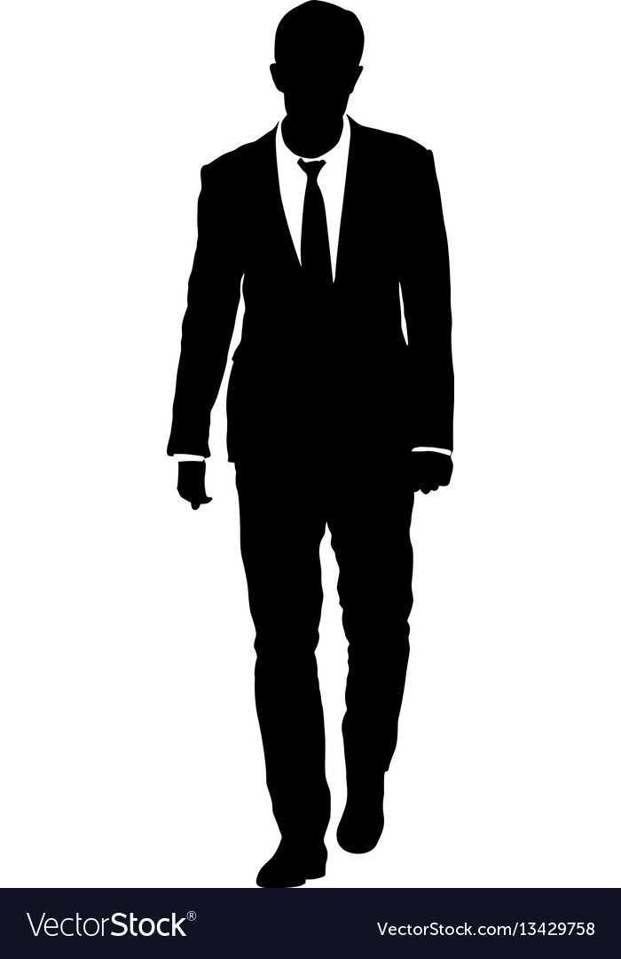Silhouette Man In Suit.