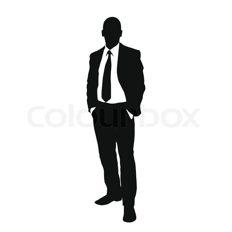Man Silhouette Suit.
