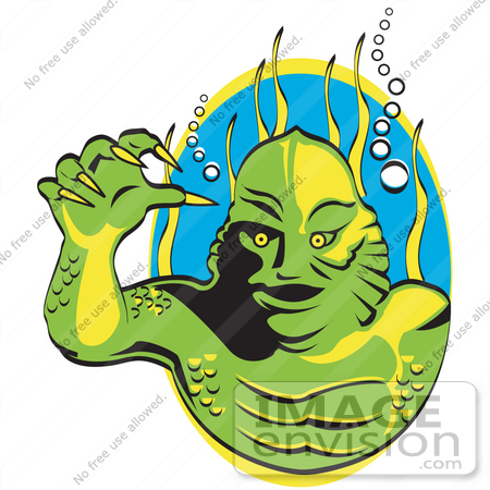 Man In Swamp Clipart.