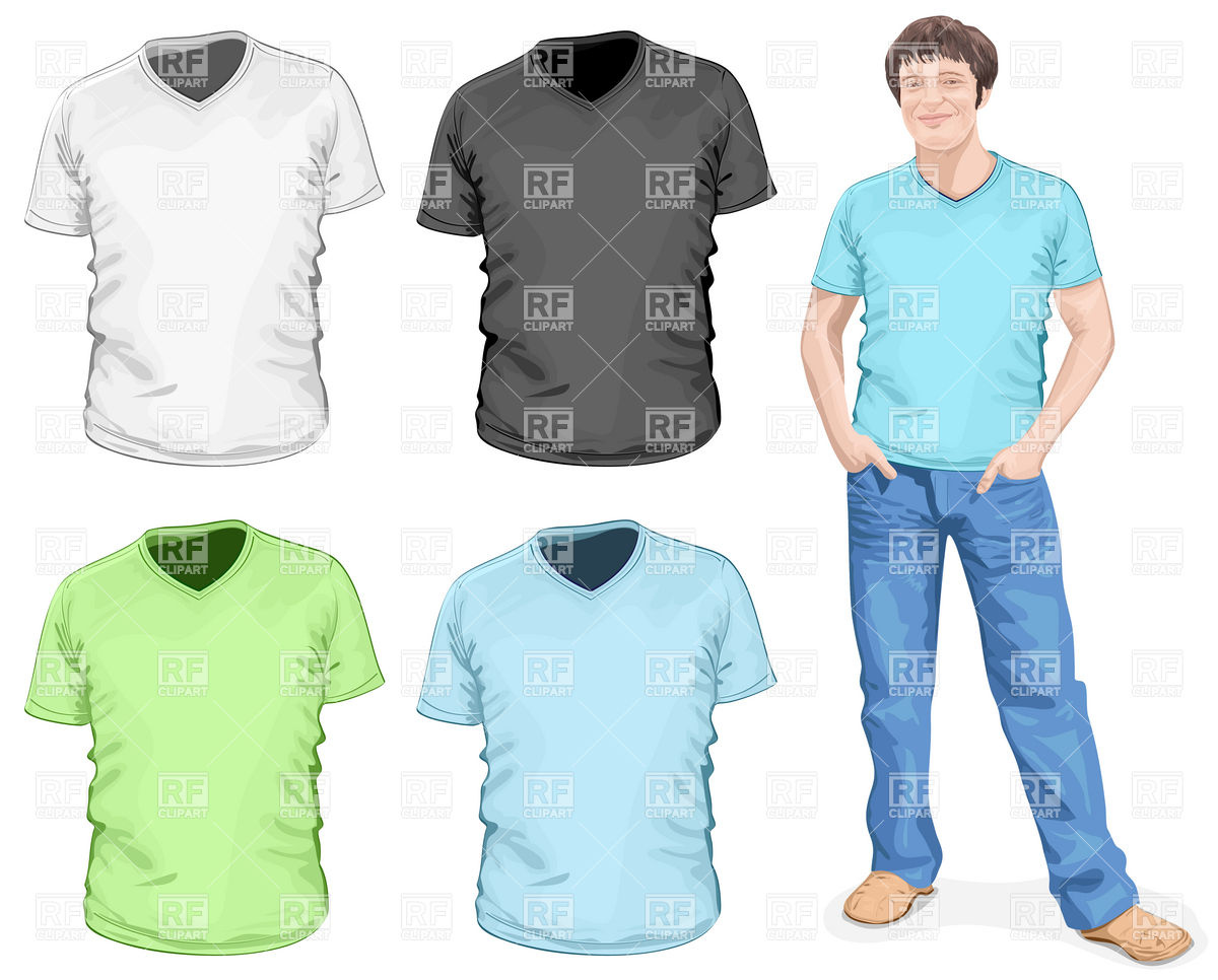 T Shirt And Jeans Clipart.