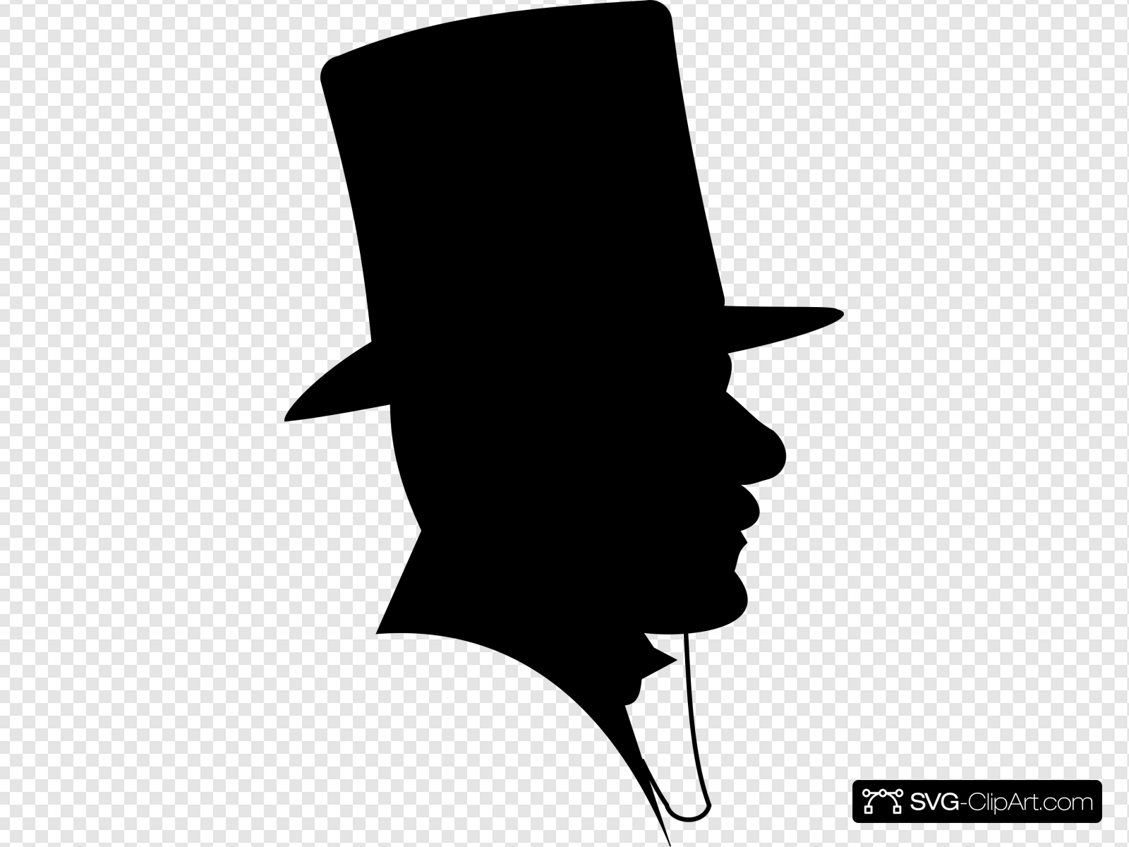 Man Wearing A Top Hat Clip art, Icon and SVG.