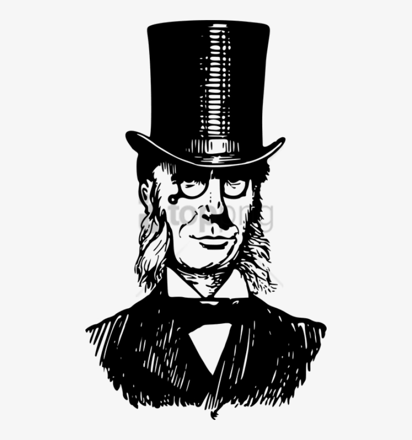 Free Png Download Man With Victorian Top Hat Png Images.
