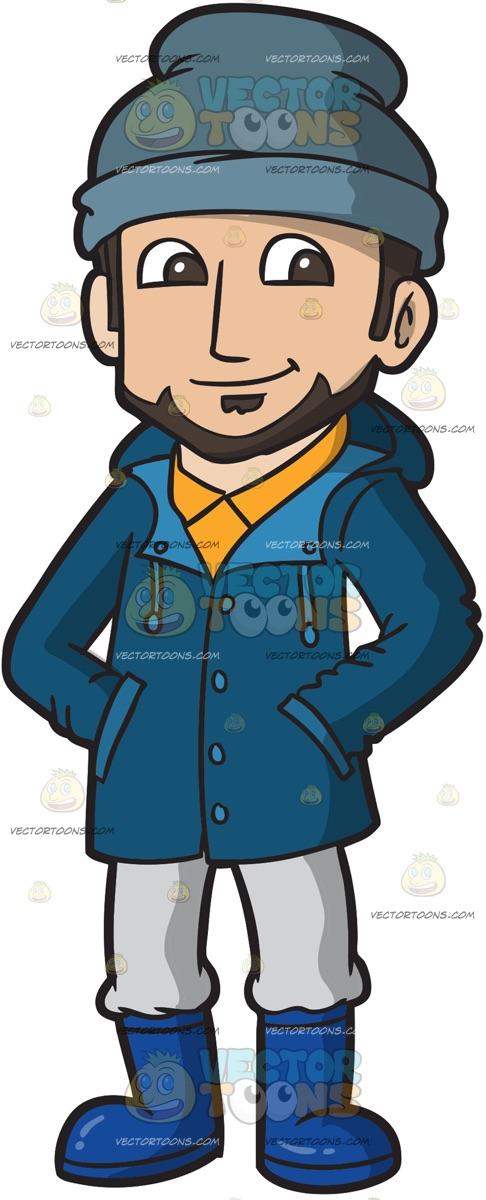 Man Wearing Jacket Clipart.