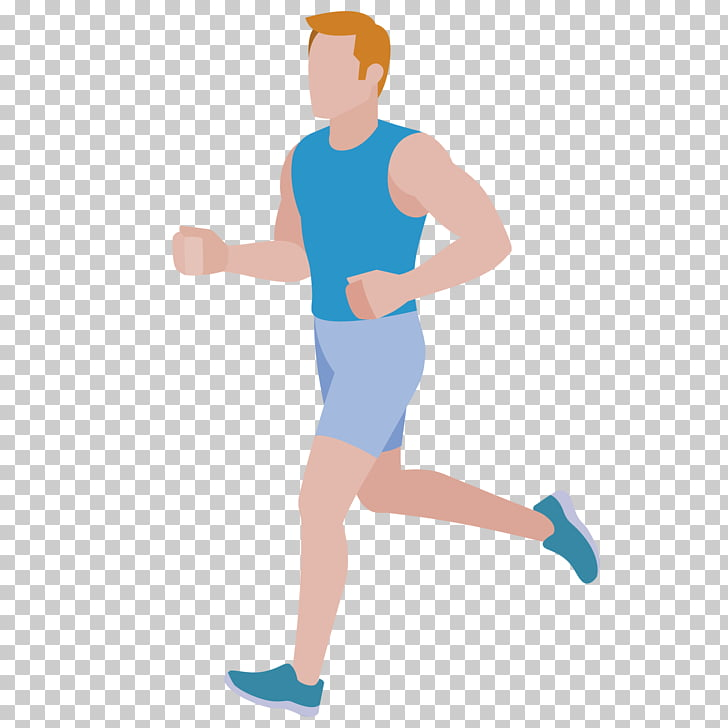 Running Cartoon Flat design, Running man PNG clipart.