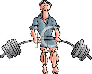 Similiar Face Lifting Weights Cartoon Keywords.