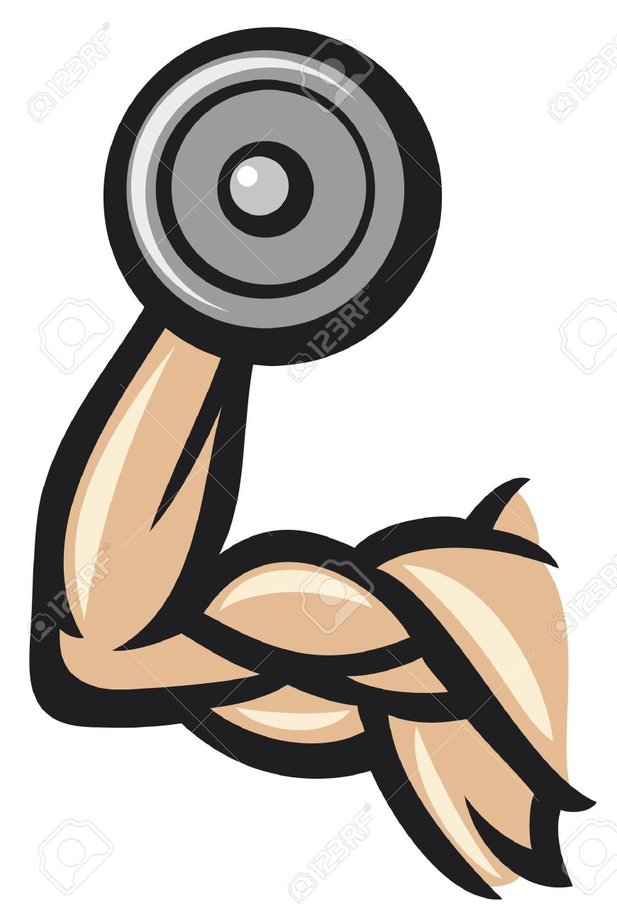 Dumbbell Icon Vector man lifting barbells c...