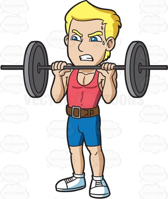 Showing post & media for Cartoon muscle man lifting weights.