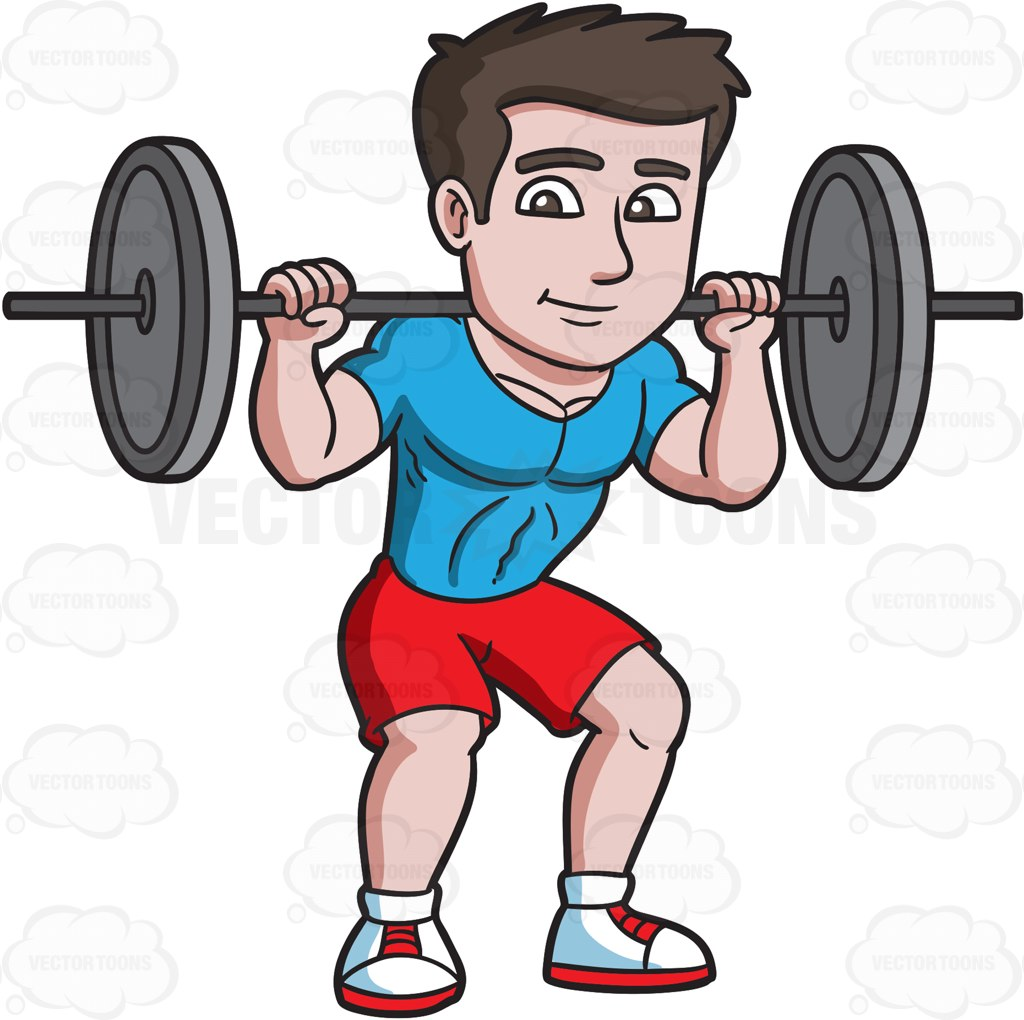 727 Barbell free clipart.