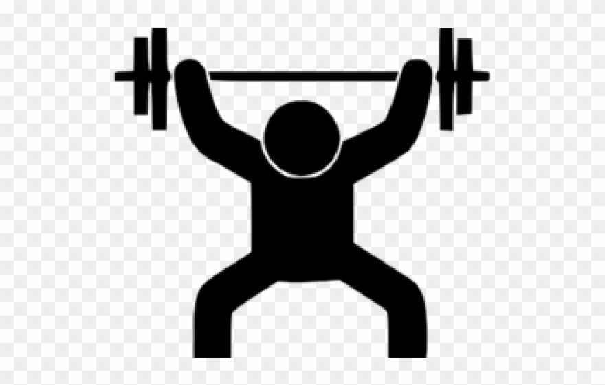 Men Clipart Weightlifting.