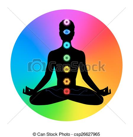 Clip Art Vector of Man. Meditation..