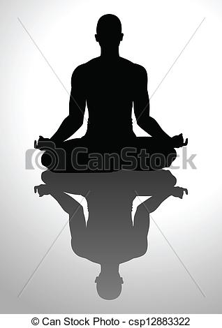 Vector Illustration of Meditation.