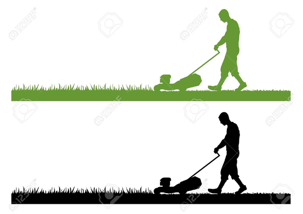 Man Mowing Lawn Clipart Free.