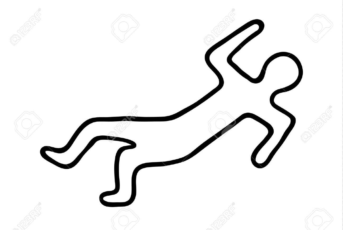 Murdered Body Clipart.