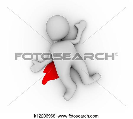 Stock Illustration of 3d man murdered k6094736.