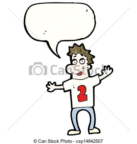 Vector Clipart of cartoon man in shirt number 2 csp14842507.