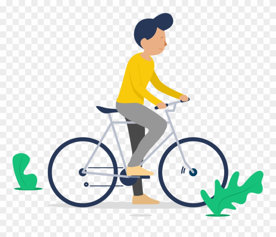 Illustration Of A Man Riding A Bicycle.