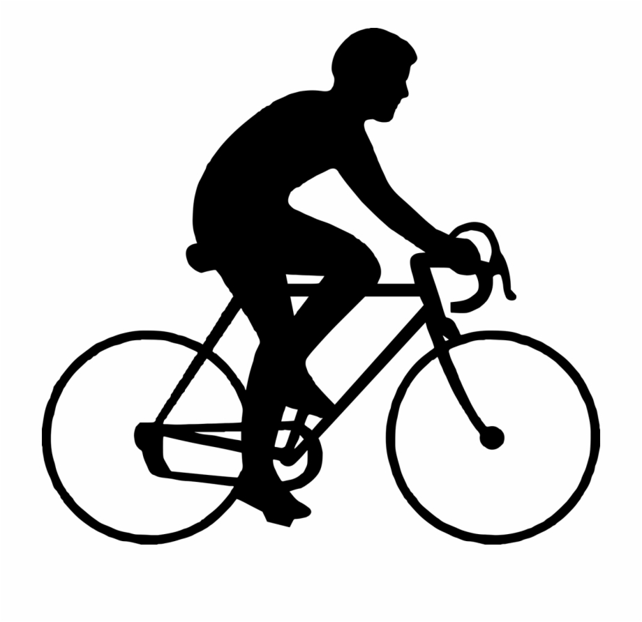 Bicycle Man Riding Sport Guy Png Image Simple.