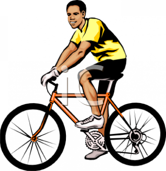 Man Riding Bike Clipart.