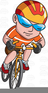 Man Riding A Bike Clipart.